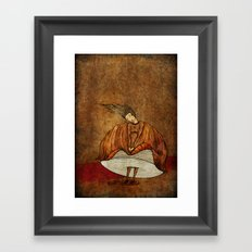 Leonora or The not crying onion Framed Art Print