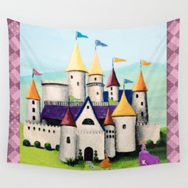 Princess Castle by the Water Wall Tapestry