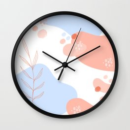 Pastel Pop in Coral Wall Clock
