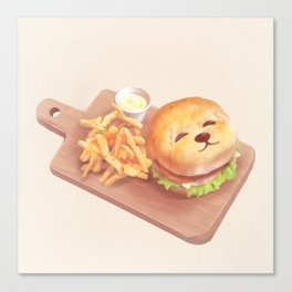 SmileDog Burger Canvas Print
