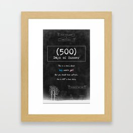 500 Days of Summer Framed Art Print