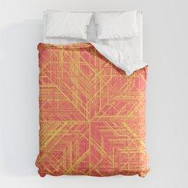 Random Lines Converging in the Center (Yellow/Orange/Red) Comforters