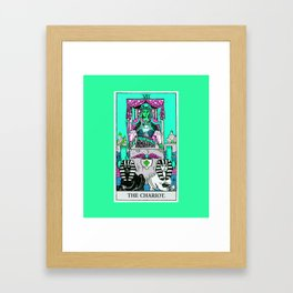 7. The Chariot- Neon Dreams Tarot Framed Art Print