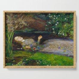 "John Everett Millais, "" Ophelia "" Serving Tray"