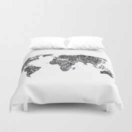 Word Map in a parallel universe Duvet Cover