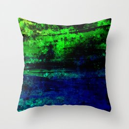 psychedelic sky clouds pattern wslsi Throw Pillow