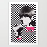 60s Art Prints featuring 60s by Luca Mainini