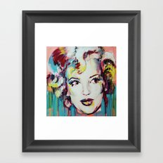 Merylin Monroe cinema and pop culture icon - portrait Framed Art Print