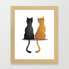 cat buddies Framed Art Print