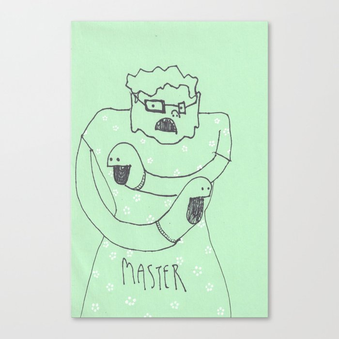 """""""SOCK PUPPET MASTER"""" Collab with Brian Charles Egan Canvas Print"""