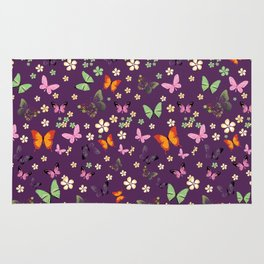 New Watercolour Butterflies XVI (colorful butterflies) Rug