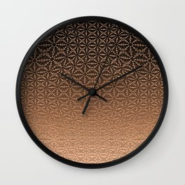 Copper Geometric Texture Wall Clock