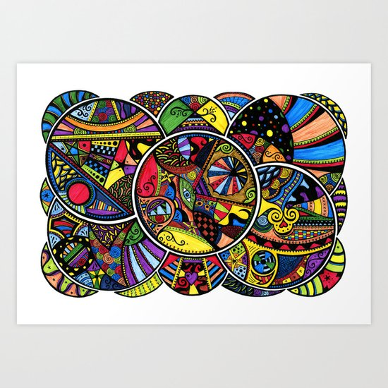 Ever decreasing circles Art Print