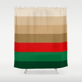 Coffee Irish Flavored Liqueur with Cream - Abstract Shower Curtain
