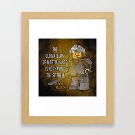 Samurai Musashi Martial Arts quote Framed Art Print