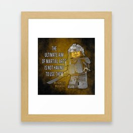 Samurai Musashi Martial Arts quote Framed Art Print