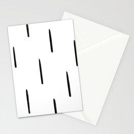 MIN_ChunkyVerticalLines_BW Stationery Cards