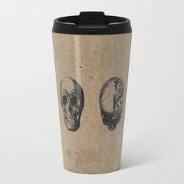 Skull View - Antique Vintage Style Medical Etching Travel Mug