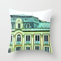 political Throw Pillows featuring Political building. by Alejandra Triana Muñoz (Alejandra Sweet