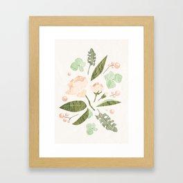 Floral mood Framed Art Print