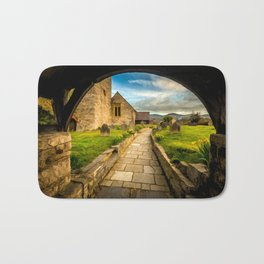 Church Entrance Ruthin Wales Bath Mat