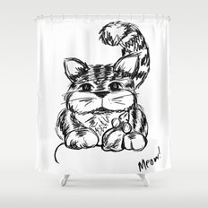 Unlikely Friends :: Cat & Mouse Shower Curtain