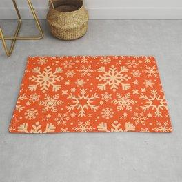 Snowflake Collection – Coral & Cream Rug