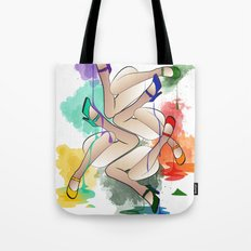Legs In Colours Tote Bag