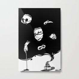 Tinta Negra Metal Print