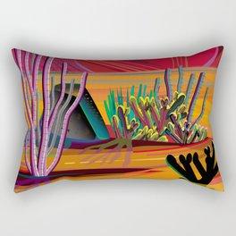 Cactus Garden Sunset Square Rectangular Pillow