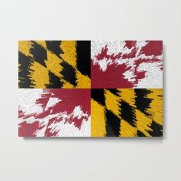 Extruded flag of Maryland Metal Print