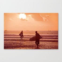 Sunset at Balangan Canvas Print
