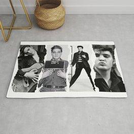 Young Elvis Presley Digital Art, Elvis Poster Mixer Rug