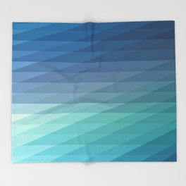 Fig. 042 Blue Geometric Diagonal Stripes Throw Blanket