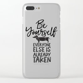 Be Yourself Daschund Clear iPhone Case