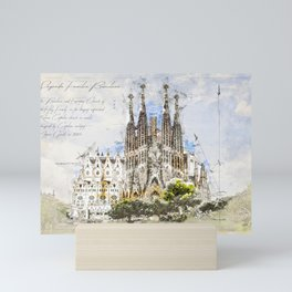 Sagrada Familia, Barcelona Spain Mini Art Print