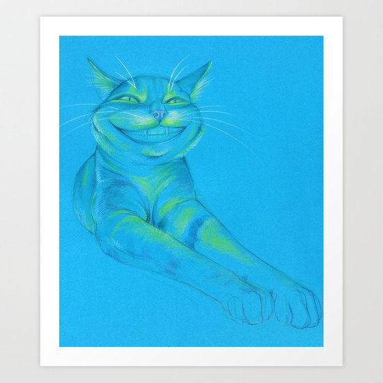 Where's the Canary? (smiley cat) Art Print