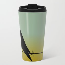 Crow on a (Barbed) Wire Travel Mug