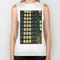 numbers Biker Tanks featuring Numbers by Hazel Bellhop