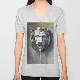 Lionhead Fountain Unisex V-Neck
