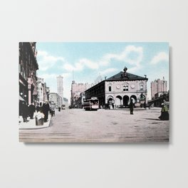 ca 1900 Herald Square New York City Metal Print