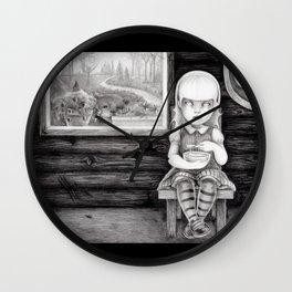 """""""The Porridge Thief"""" (Goldilocks) Wall Clock"""