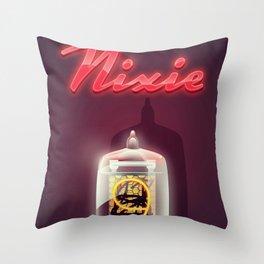 Vintage Nixie Tube Throw Pillow
