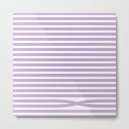 Stripes - Baby Lilac Metal Print