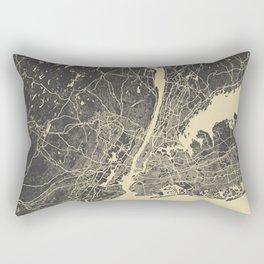 New York #2 map yellow Rectangular Pillow
