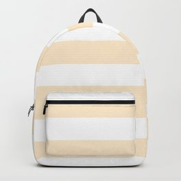 Blanched almond - solid color - white stripes pattern Backpack
