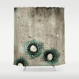 Sepia Circles Low Shower Curtain