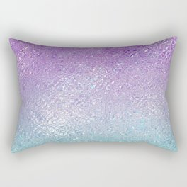 Indecent glass shiny purple to turquoise ombre Rectangular Pillow