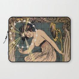 Italian art nouveau street gas lighting ad Laptop Sleeve