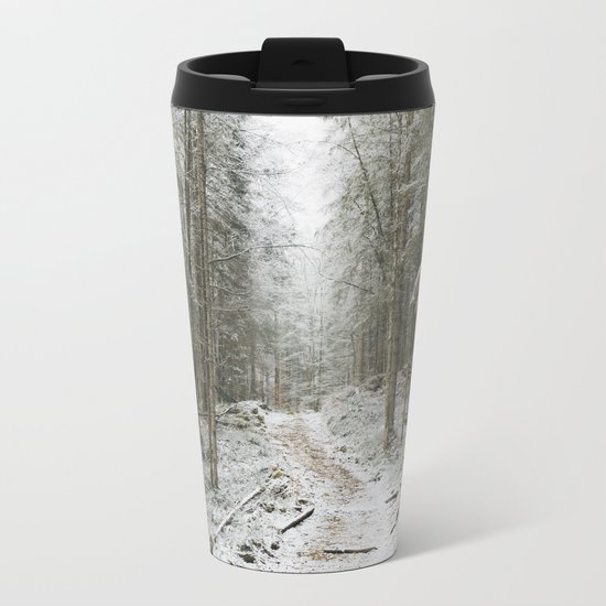 For now I am Winter - Landscape photography Metal Travel Mug